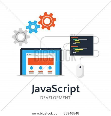 Javascript Flat Vector Illustration