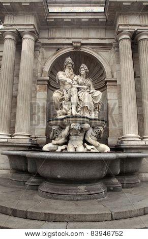 Neptune Fountain, Albertina Museum Palace, Vienna, Austria