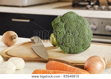 vegetables on a chopping board