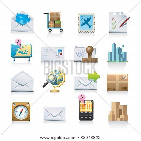 Mailing and shipping icons