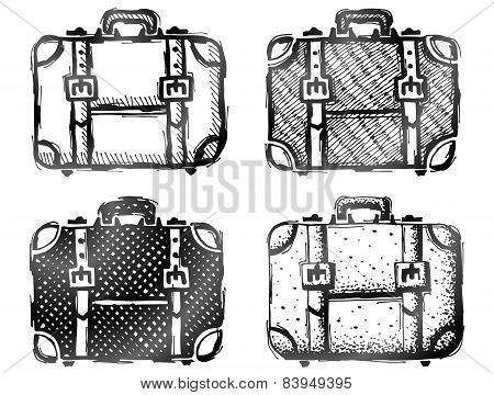 Hand Drawn Suitcase