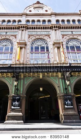 Gran Teatre del Liceu, is located on the Ramblas of Barcelona.