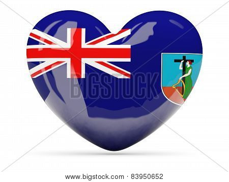 Heart Shaped Icon With Flag Of Montserrat