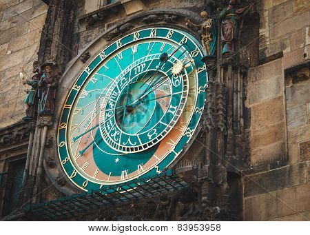 Prague Astronomical Clock. Landmark of Czeh republic.