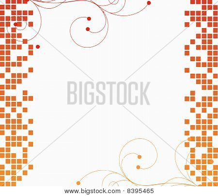 orange mosaic tiles background