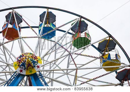Ferris Wheel Cars At Scarborough, Uk