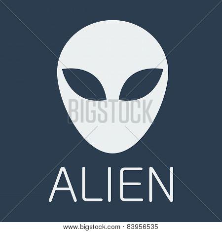 Vector alien on blue background