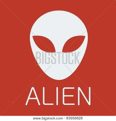 Vector alien on red background
