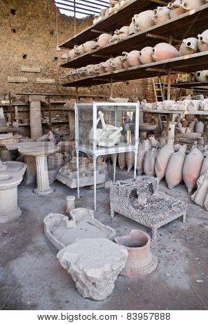 Archeological Excavations Of Pompeii, Italy
