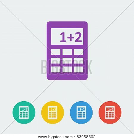 vector calcule flat circle icon