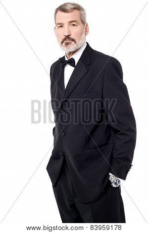 Casual Pose Of Confident Businessman