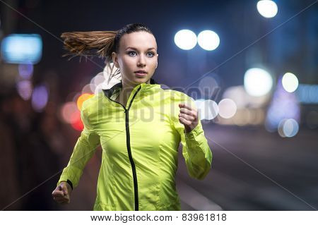Jogging at night