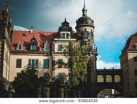 Old Building In Europe. Dresden.residence Castle.