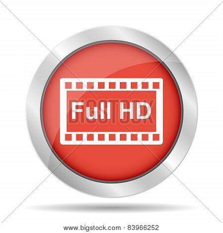 High Definition Design Over Red Background Vector Illustration