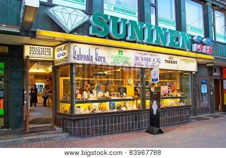 Lappeenranta. Finland. Store of SUNINEN