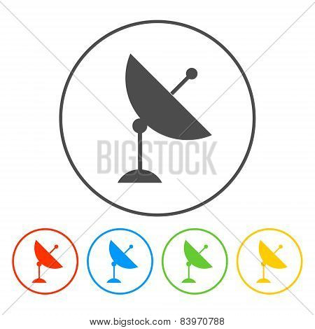 Vector Satellite Dish Icon