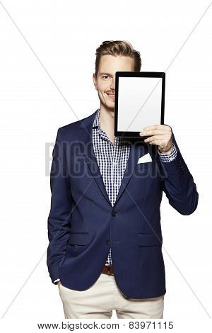Hide The Face Behind Digital Tablet