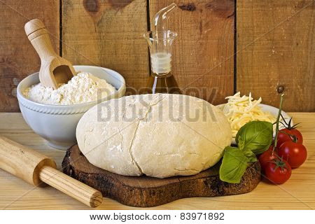Dough For Italian Pizza Preparation
