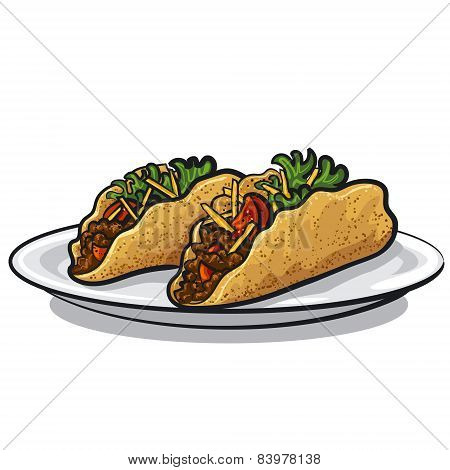 Tacos On Plate