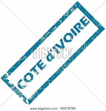 Cote d Ivore rubber stamp