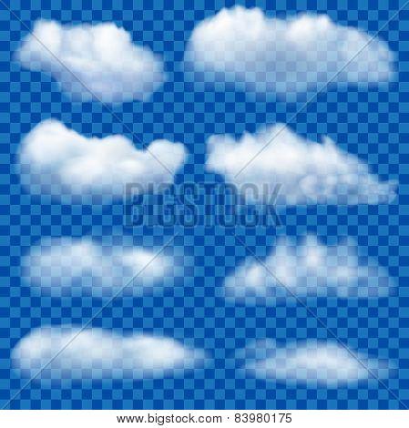 Set Of Transparent Clouds