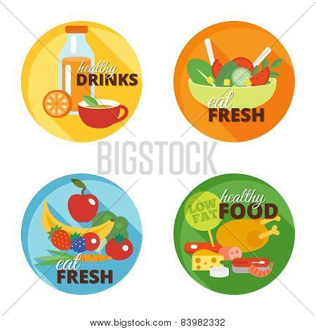 Healthy eating flat icon