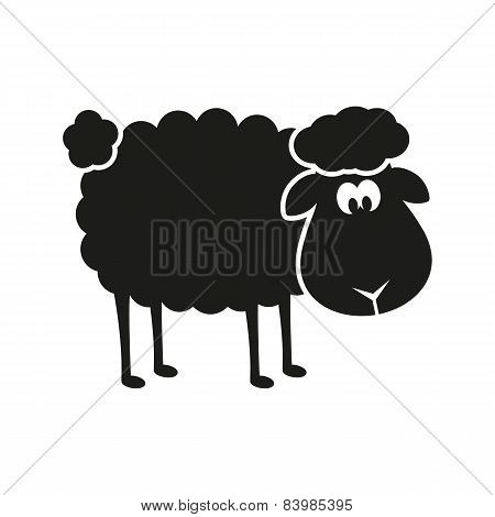 Vector sheep stencil
