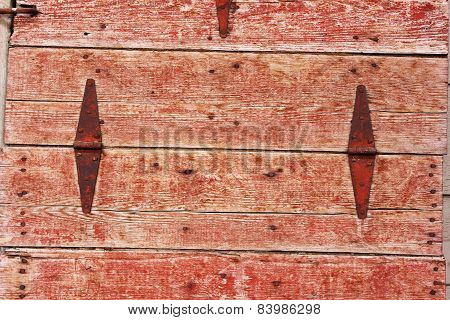 Red Wooden Door Background