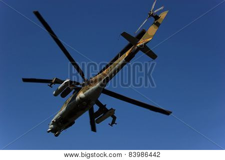 Russian combat helicopter Mil Mi-24