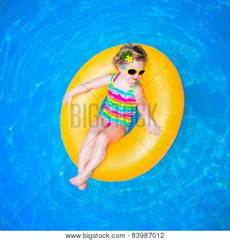Baby Girl In Swimming Pool