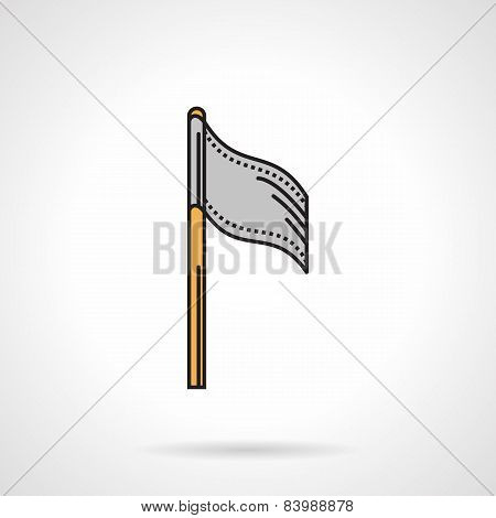 Flat vector icon for paintball team flag