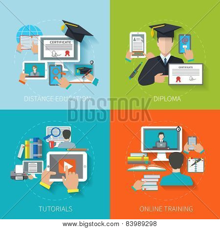 Online Education Flat