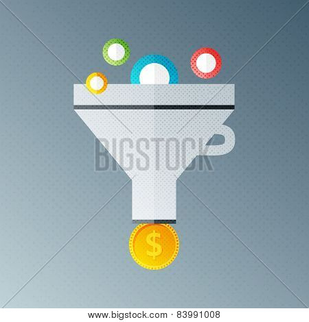 Funnel With Money
