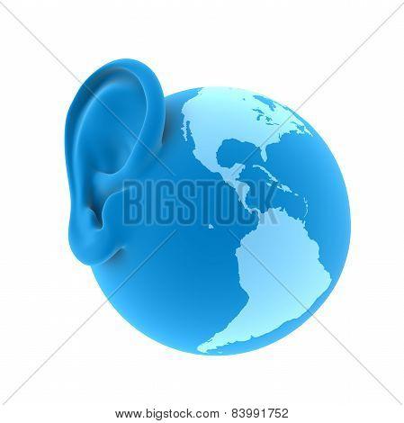 ear of the Earth, 3d render illustration