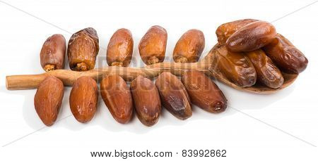 Date Dried Fruits In A Spoon