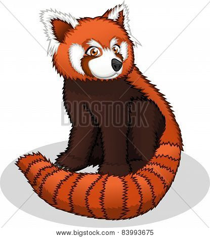 High Quality Red Panda Cartoon Vector Illustration
