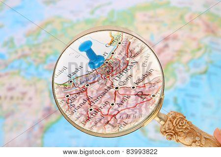 Looking In On Tehran, Iran, Asia