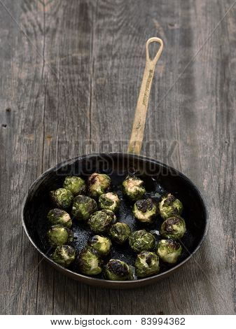 Rustic Roasted Brussels Sprout
