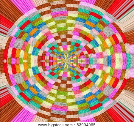 The colorful knitting wheel