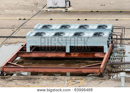 Ventilation Fans On Flat Roof Top