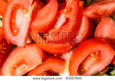 Tomato Slices Background
