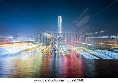 Abstract Background Of The City Skyline