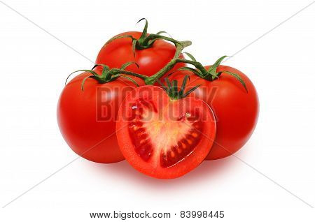 Fresh red tomatoes
