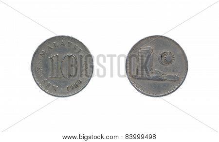 Ten Malaysia Cents Coin