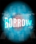 stock photo of borrower  - Pixeled financial background on digital screen  - JPG