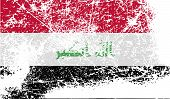 picture of iraq  - Flag of Iraq with old texture - JPG