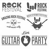 foto of guitar  - Collection of vintage logo - JPG