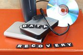 stock photo of hard-on  - Data recovery from broken cd and lost info from hard drive - JPG
