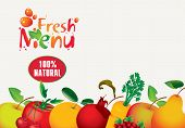 image of fruit-juice  - menus for juice and fresh juices from various fruits - JPG