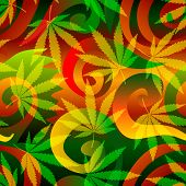 stock photo of marijuana leaf  - Seamless background pattern - JPG